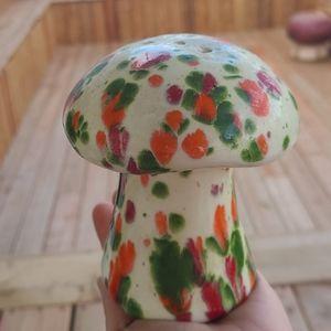 Vintage mushroom cheese shaker